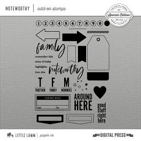 Noteworthy│Add-On Stamps