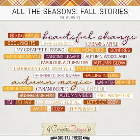 ALL THE SEASONS: FALL STORIES | WORDBITS