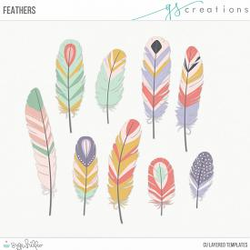 Feathers Layered Templates (CU)