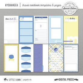 Hydrangea | Travel Notebook Templates