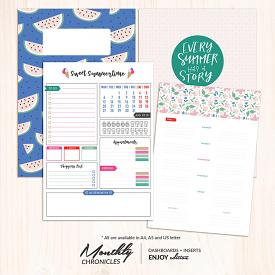 Monthly Chronicles | Enjoy Planner Dashboards + Inserts