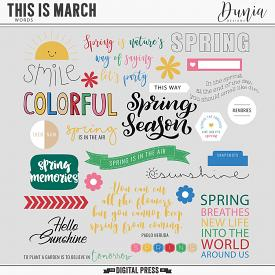 This is March | Words