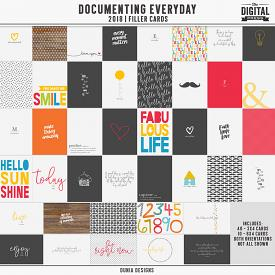 Documenting Everyday (2018) Filler Cards