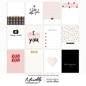 Monthly Chronicles   Adore Pocket Cards 01