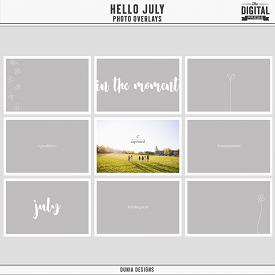 Hello July | Photo Overlays