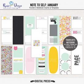 Note To Self January | Traveler's Notebook