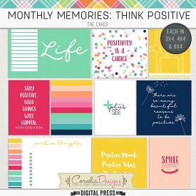 MONTHLY MEMORIES: THINK POSITIVE| POCKET CARDS
