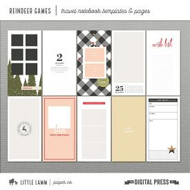 Reindeer Games | Travel Notebook Templates