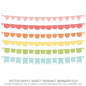 Simply Sweet Pennant Banners (CU)