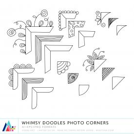Whimsy Doodles Photo Corners (CU)