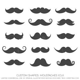 Moustaches Shapes (CU)