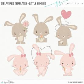Little Bunnies Layered Templates (CU)