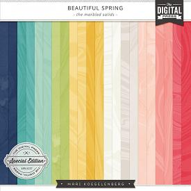 Beautiful Spring | Marbled Papers