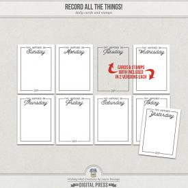 Record All The Things! | Daily Cards & Stamps