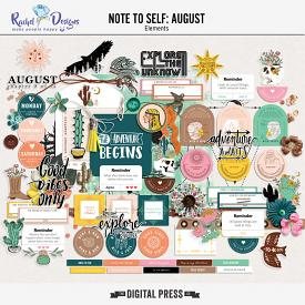 Note To Self August | Elements