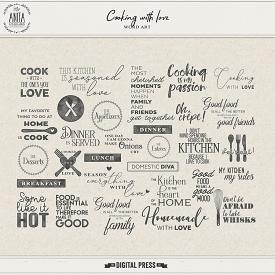 Cooking With Love | Word Art + FWP Spice Labels