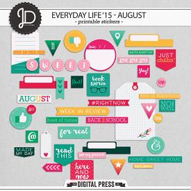 Everyday Life '15 - August | Stickers