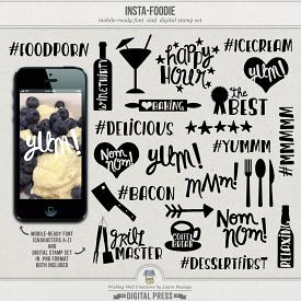 Insta-Foodie | Mobile-Ready Font & Stamp Set