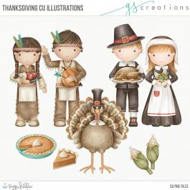 Thanksgiving Illustrations (CU)