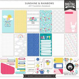 Sunshine & Rainbows | DIY Travelers Notebook