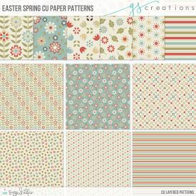Easter Spring Layered Patterns (CU)