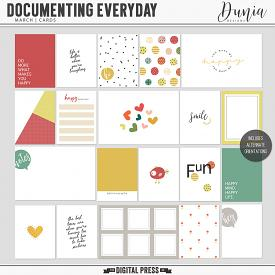 Documenting Everyday | March - Cards