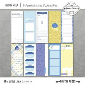Hydrangea | 3x8 Pocket Cards and Printables