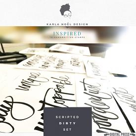 Scripted : Inspired | stamps | dirty