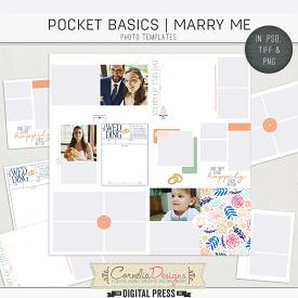 POCKET BASICS: MARRY ME | PHOTO TEMPLATES