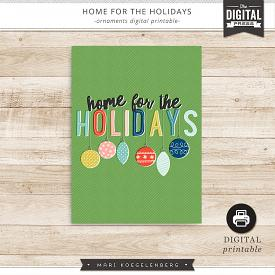 Home for the Holidays | Digital Printable