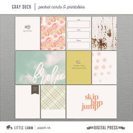 Gray Duck | Pocket Cards & Printables