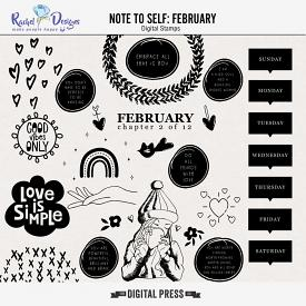 Note To Self February | Stamps
