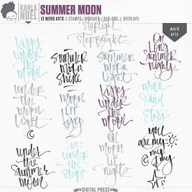 Summer Moon - word arts