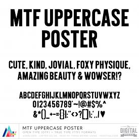 MTF Uppercase Poster