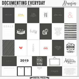 Documenting Everyday (2019) First and Last Page Cards