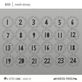 Hush│Month Stamps and Brushes
