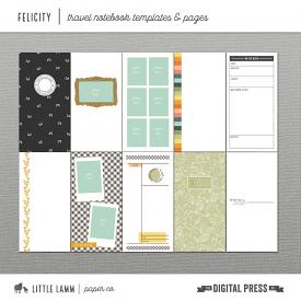 Felicity│Travel Notebook Templates