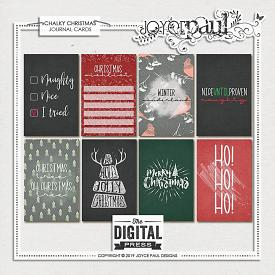 Chalky Christmas | Journal Cards by Joyce Paul