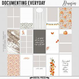 Documenting Everyday | October - Traveler's Notebook
