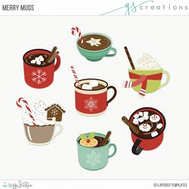 Merry Mugs Layered Templates (CU)