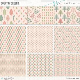 Country Green Layered Patterns (CU)