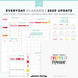 2020 Everyday Planner UPDATE - NOW EDITABLE