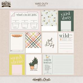 Yard Duty | Journal Cards