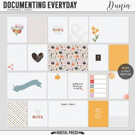 Documenting Everyday | November - Cards