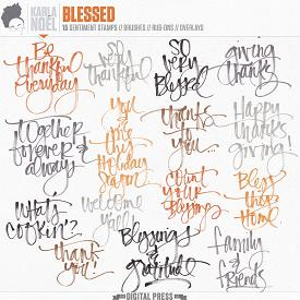 Blessed | sentiment stack stamps