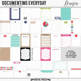 Documenting Everyday 2021 | Journal Cards