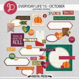 Everyday Life '15 - October | Stickers
