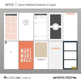 Artiste | Travel Notebook Templates