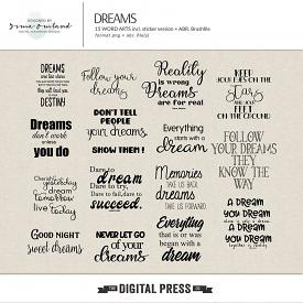 Dreams - word art