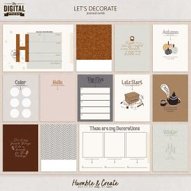Let's Decorate | Journal Cards
